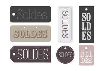 Etiquettes Soldes chic