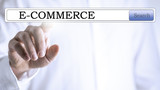 E-commerce in a navigation bar on a virtual screen