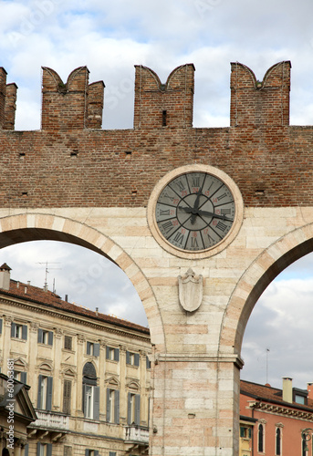 gate of the ancient city of Verona in the veneto in Italy