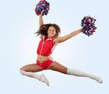 cheerleader girl jumping