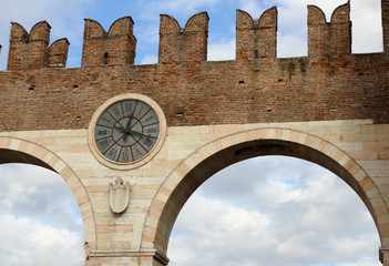 port of the ancient city of Verona in the veneto in Italy