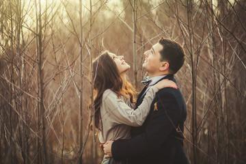 Couple enjoying outdoors