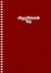 Red Valentines day card - embossing