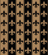 Black and Beige Fleur De Lis Textured Fabric Background