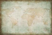 ancienne carte du monde de fond