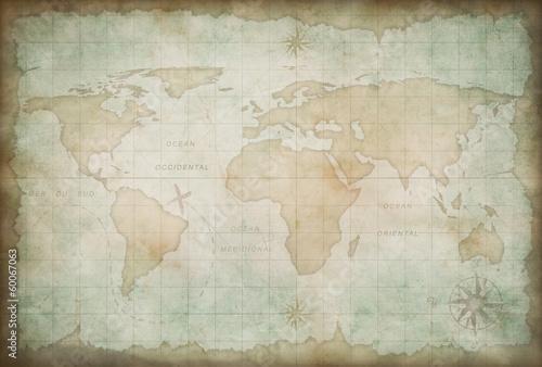 stary tło mapy świata