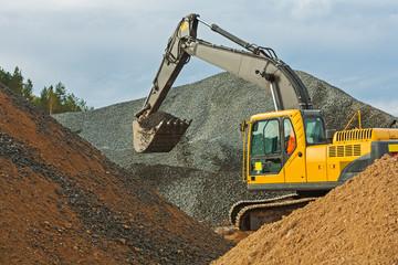 excavator in work