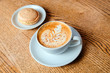 cappuccino cup with cookies