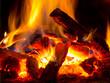 Leinwanddruck Bild - flame of fire