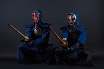 kendo fighters in the studio