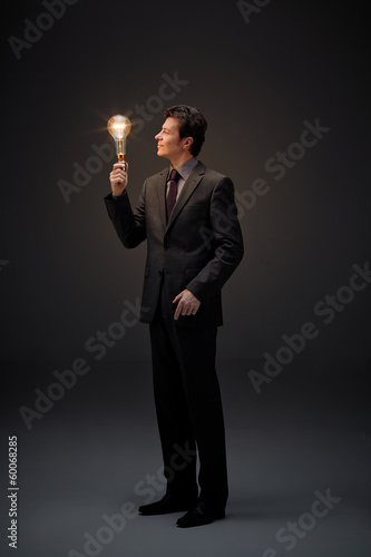Illumination of business man