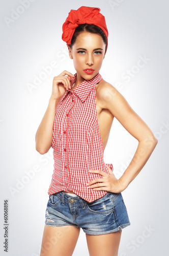 Pin-Up girl posing