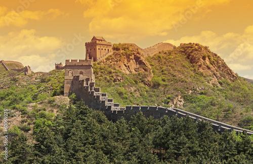 Fotobehang Chinese Muur Chinesische Mauer