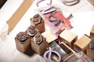 scrapbooking tools - assorted stamps