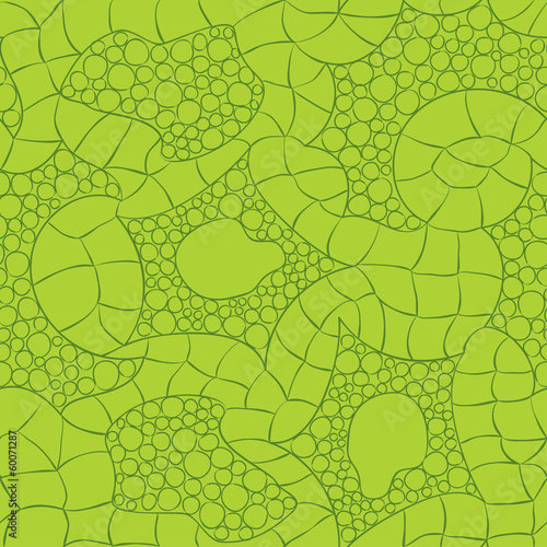 green knitted vector seamless pattern