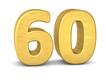 zahl cipher 60 gold vertikal