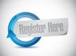 register here message illustration design