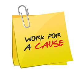 work for a cause post illustration design