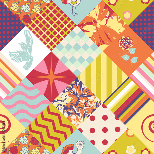 Patchwork seamless pattern