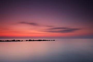 Entspannter Blick auf das Meer