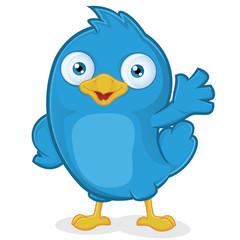 Blue Bird Waving