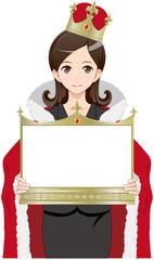 女性 王様 金 ボード