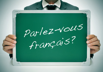 parlez-vous francais? do you speak french? written in french