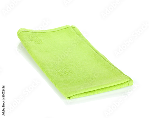 Green kitchen towel