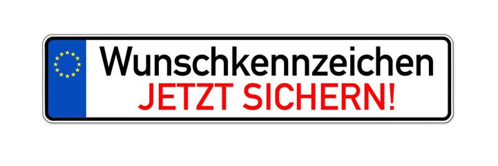 KFZ Kennzeichen mit Wunschkennzeichen