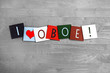 I Love Oboe, sign series for music, musical instruments, orchest