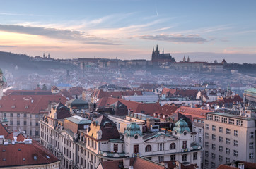 Prague view in the evening, Czech Republic