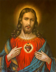 typical catholic image of heart of Jesus Christ