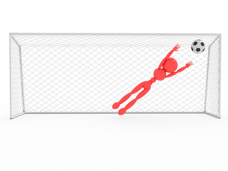Goalkeeper catches a soccer ball  #2