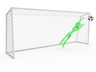 Goalkeeper catches a soccer ball #1