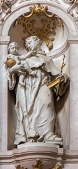 Jasov - Baroque sculpture of Saint Anthony of Padua