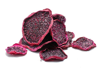 Pile of dried dragon fruit slices