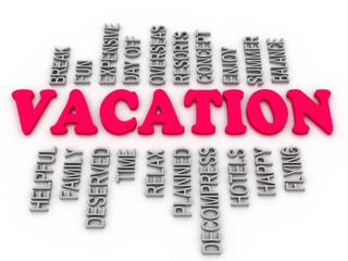 3d Vacation family, arrangement concept