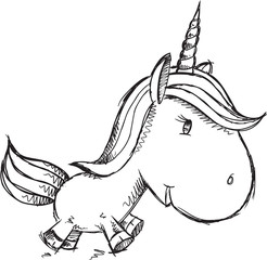 Sketch Doodle Unicorn Art