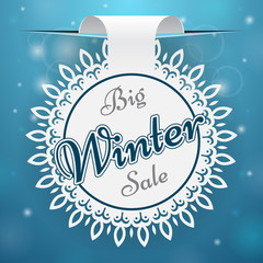 Paper price tag Big Winter Sale