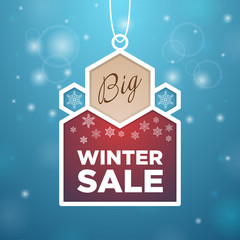 Pendant Big winter sale beige and wine-colored