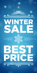 Winter sale and Best price banner