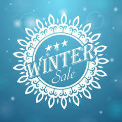 Winter sale Snowflake