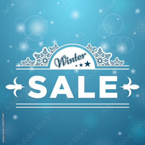 Signboard Winter Sale tree stars