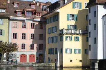 Embankment in Lucerne, Switzerland.