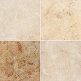 Four different texture of a light marble and granite (high.res)