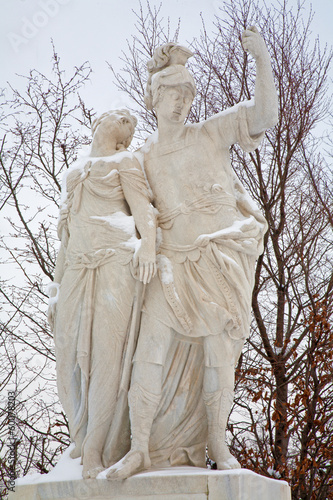 Vienna - Statue of Brutus and Lucretia from Schonbrunn