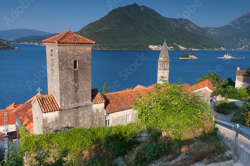 Ancient Churches in Perast. Bay of Kotor, Montenegro