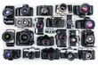 Leinwandbild Motiv Set of Vintage Film Cameras.
