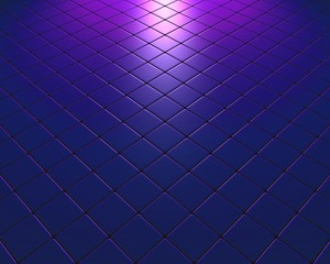 Blue and mauve fleeing mosaic with color effect