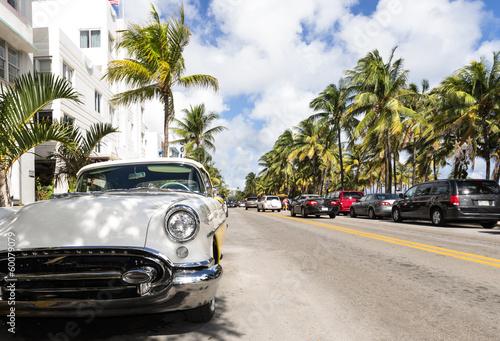 Leinwandbild Motiv Miami beach ocean drive